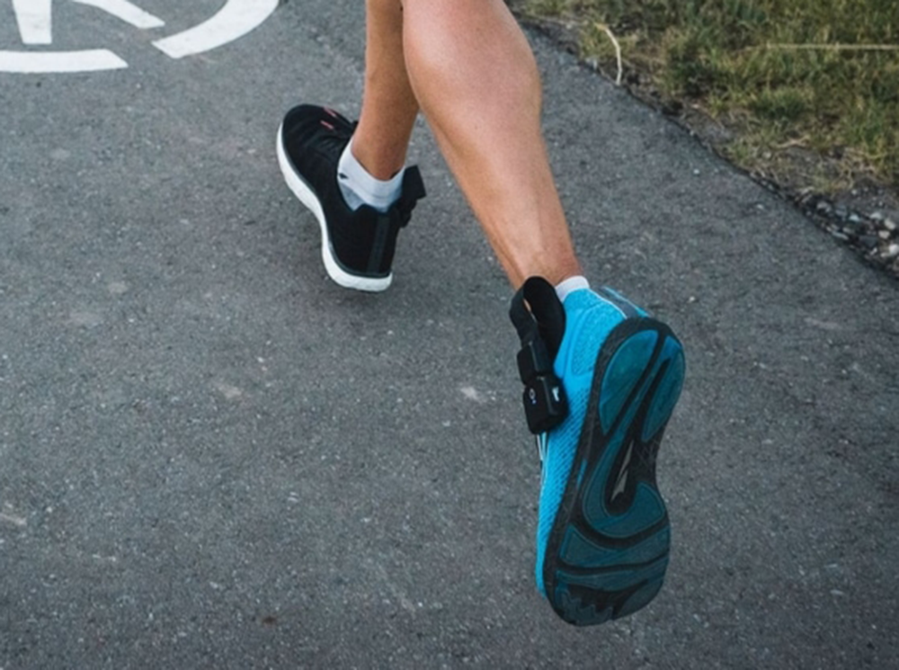 XSENSOR's X4 Intelligent Insole System used by an athlete running.